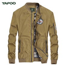 New Brand TAPOO Jacket Mens Solid Simple Fashion Casual Coat for Men Spring Hot Sales Wholesales Blue Khaki Jacket Size M-3XL