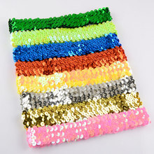 16 color team sets sparkly sports headband 1 Inch stretch sequin headband softball volleyball soccer,wine black  silver gold etc