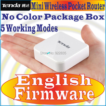 English Firmware Tenda A6 G6 Mini Router Pocket WiFi Wireless-N AP Router Repeater WISP 150M wireless router, No Color Pack Box