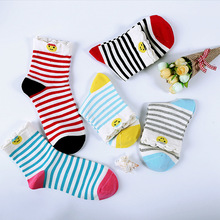 10Pairs/Lot Hot tube socks stripe cotton all-match girls fashion store in the high-end drum lady socks