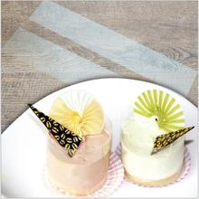 180pcs/lot Transparent mousse cake dessert surrounding soft bounded decorative sheet the cake edges OPP plastic Band