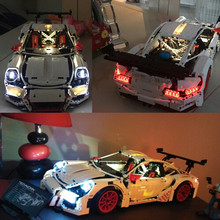 JULITE Led Building Blocks Kit Light up kit for TECHNIC Porsche 911 GT3 RS Compatible with LEGO 42056 Lepin 20001