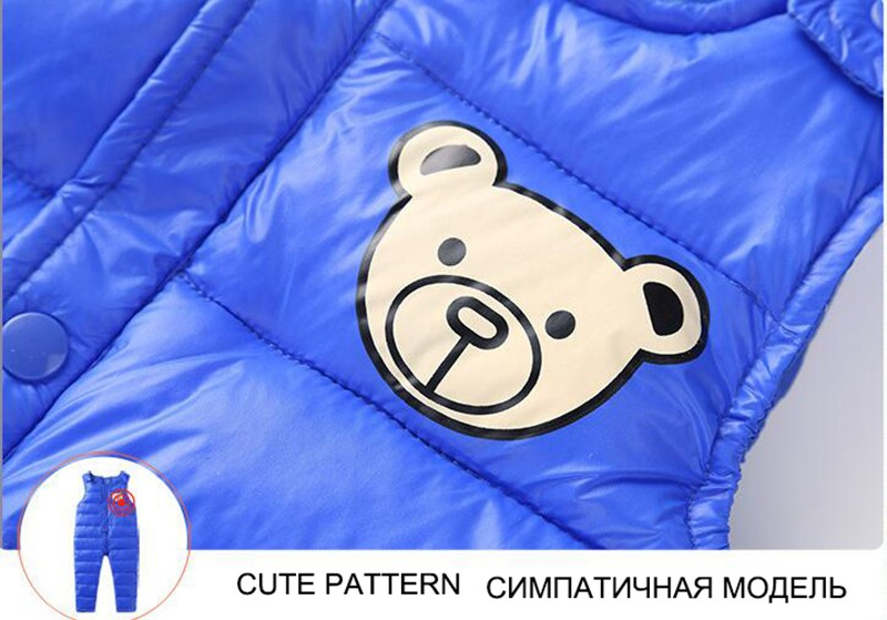 COOTELILI Cotton Winter Overalls Padded Outdoor Romper Pants High Quality Baby Girls Boys Jumpsuit Kids Clothes  90-110cm  (10)