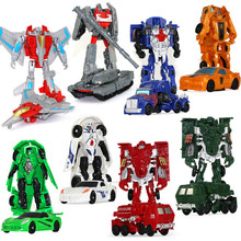 TOP Quality NEW Arrival 11cm Mini Classic Transformation Plastic Robot Cars Action Toy Figures Kids Education Toy Best Gift Doll