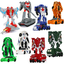 TOP Quality NEW Arrival 11cm Mini Classic Transformation Plastic Robot Cars Action Toy Figures Kids Education Toy Best Gift Doll(China)