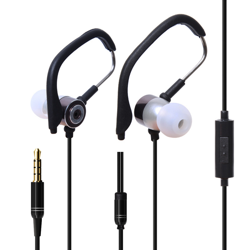 HIFI Stereo Bass 3.5mm In Ear Earphone Ear Hook Sport Wired Earphone With Mic Universal Earbuds For All Phones<br><br>Aliexpress