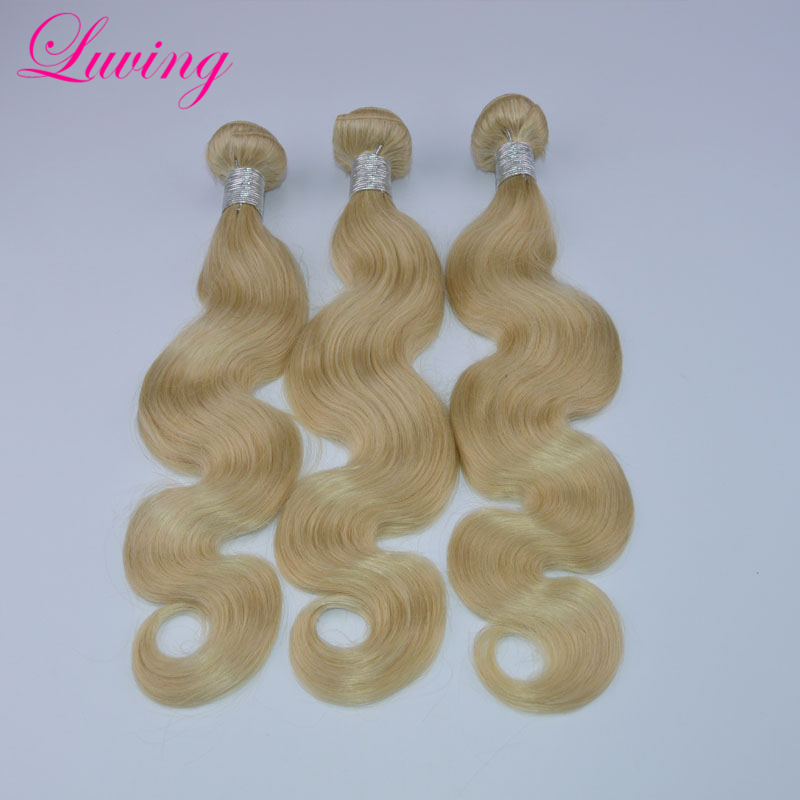 Blonde Mink Brazilian Hair 3Pcs Lot Brazilian Virgin Hair Body Wave 10-30 Color 613 Platinum Blonde Virgin Hair Weaving<br><br>Aliexpress