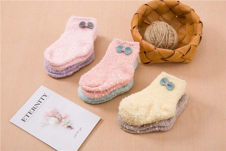 جوارب مبطن للاطفال لشتاء دافئ 3