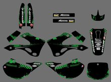 0224 New Style TEAM GRAPHICS & BACKGROUNDS DECALS STICKERS Kits For Kawasaki KX125 KX250 1999 2000 2001 2002 KX 125 250(China)
