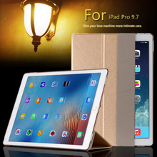 For Apple iPad PRO 9.7 inch Luxury Magnetic Ultrathin Slim Smart PU Leather Cover Plastic Clear back case For iPad Pro(China)