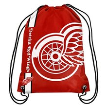 35*45 cm Knitted Polyester Forever Detroit Red Wings Logo Drawstring Bag With Grommets(China)