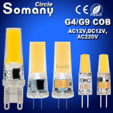 Mini G4 G9 LED Lamp COB LED Bulb 6W 9W AC DC 12V 220V Dimming LED COB Light Dimmable 360 Degree Chandelier Replace Halogen Lamps