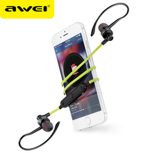 AWEI A990BL Wireless Headphones Bluetooth Earphones For Phone Noise Cancelling With Mic Metal Fone de ouvido Auriculares kulakl(China)