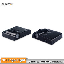 2x LED Car Door Shadow Laser Projector Logo Light Wireless Welcome Lamp Universal For Ford Mustang GT 500 All Series