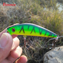 Brand Lifelike 3D Eyes Minnow Fishing Lure 7CM 8.5G 6# Hooks Fish Wobbler Tackle Crankbait Artificial Japan Hard Bait(China)