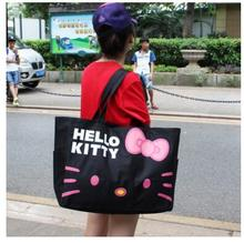 Hello Kitty Women Canvas Bag Women Canvas Shopping Bag bolsa feminina Beach Bag Women handbag Crossbody Shoulder Bag