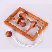 Wooden 3D puzzle toy,intellectual toys Kong Ming lock, Lu Ban lock Stringing unlock Untie the rope