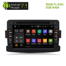 Android 7.1Car DVD Stereo Multimedia For Renault Duster Lada Dacia Logan Sandero Headunit Auto Radio RDS GPS Navigation 2G RAM