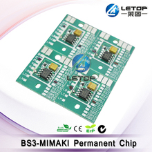 inkjet printer mimaki cartridge chip BS3 permanent chip 1 set CMYK(chip look green or red (Random delivery)(China)