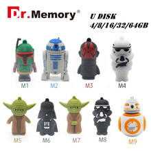 Star Wars External Storage Usb Flash Pen Drive Sitck R2D2 Pen Drive Darth Vader 32GB Pendrive 16GB 64GB