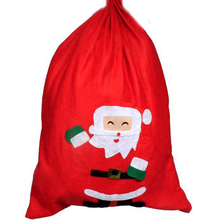 Large Size Christmas Bag Christmas Santa Sack for Presents Funny Candy Gifts(China)
