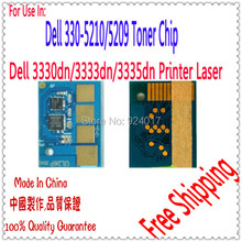 Compatible Dell 3330 3333 3335 Toner Reset Chip,Chip For Dell 3330DN 3333DN 3335DN Printer,For Dell 330-5210 330-5209 Toner Chip(China)