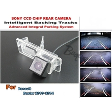 For Renault Duster 2010~2014 Smart Tracks Chip Camera / HD CCD Intelligent Dynamic Parking Car Rear View Camera(China)