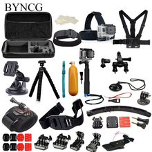BYNCG for GoPro Accessories Set Case Bag Chest Head Wrist Strap & Floating for GoPro Hero 5 34 SJCAM Sj5000 Sj4000 Xiaomi Yi