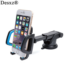 Desxz Car Phone Holder Gps Accessories Suction Cup Auto Dashboard Windshield Mobile Cell Phone Retractable Mount Stand for MI(China)