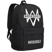 Watch Dogs 2 Bag Game Cosplay Backpack Anime Oxford School Bag Unisex