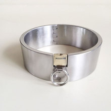 Buy 5cm high metal stainless steel neck collar slave bdsm bondage women fetish wear collars adult games toys sex tools sale