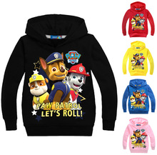 2016 New collection patrol boys hoodies cartoon printing girls sweatshirts with hooded children clothing kids coats dog MS2629