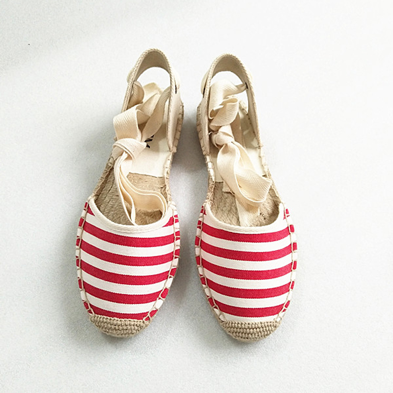 Canvas Summer Women's Espadrille Sandals Flats Ankle Strap Hemp Bottom Fisherman Women Shoes For 2018 SpringAutumn Women Loafer (25)