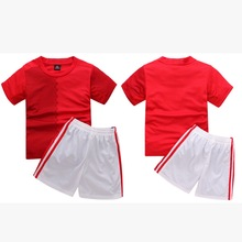 2017 Boys Girls Football Jersey Kids Active Clothes sets Cotton Children's Sports clothes soccer Jersey Custom made number