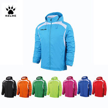 KELME Sports Kids Soccer Jersey Jacke Outdoor Sport Men Running Jacket Training Exercise Jacket Windproof Clothing coatK15S607-1(China)