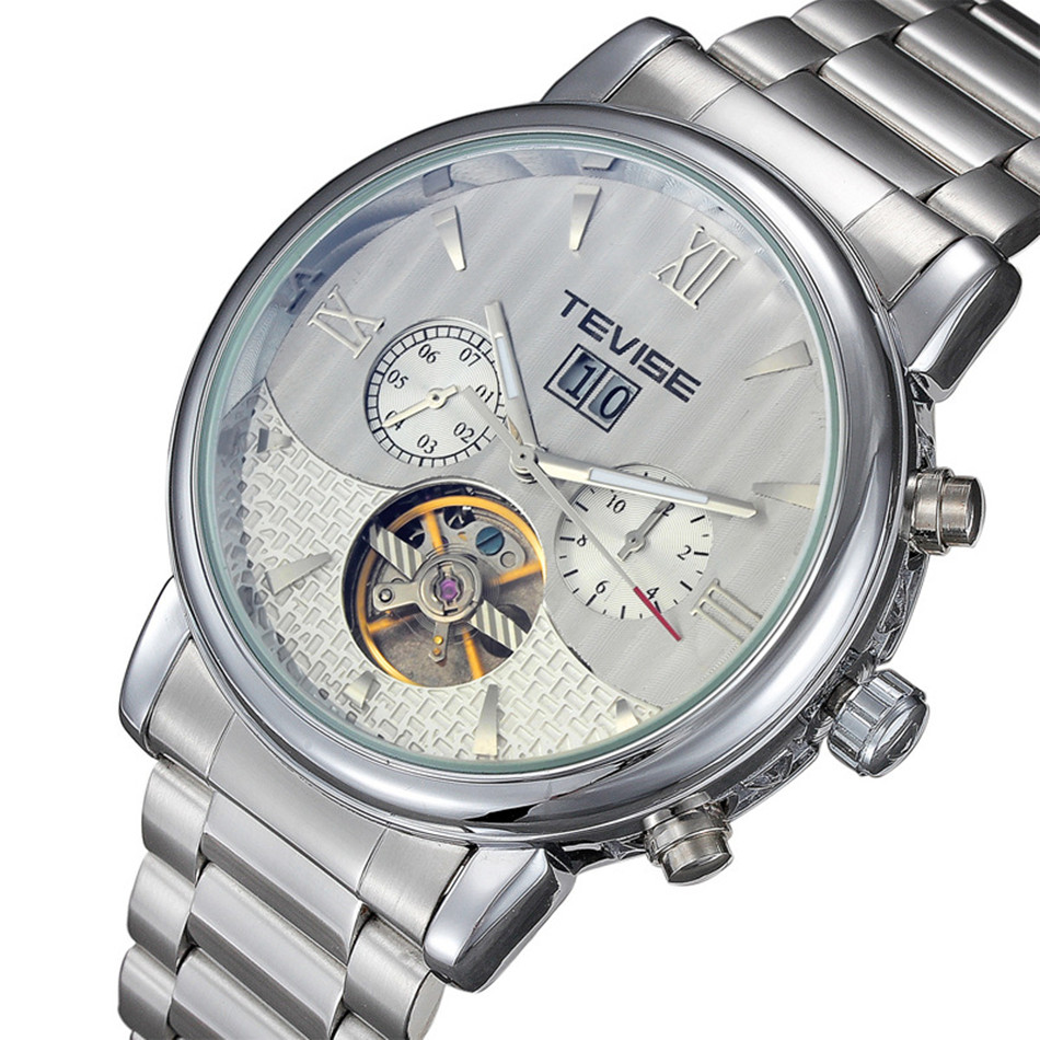 Mens Watch Brand TEVISE Automatic Mechanical Watches Luminous Clock Men Wristwatches Stainless Steel Watches Relogio Masculino<br><br>Aliexpress