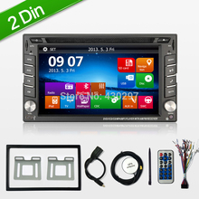"Reverse Camera 6.2"" 2 Din Car GPS Navigation Stereo DVD Player Bluetooth iPod Radio FM AM Receiver MP3 Indash Head Unit Free map"