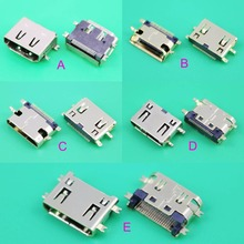 mini HDMI 19pin female plug socket jack connector,4 foot SMT and sink board for HD TV Interface