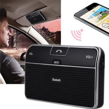 Sun visor bluetooth 4.0 handsfree car kit hands free bluetooth module music reciever car chargers auto speakerphone English