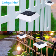 UniqueFire 6 Leds Solar Powered LED Light IP44 Water Resistant Outdoor Wall Light For Door, Roadside, Parking Lot(China)