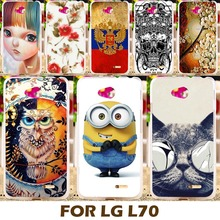 Phone Case For LG Optimus L65 Cases Dual D285 D280 L70 4.5 Inch Phone Cover Protective Sleeve Para Shell DIY Painting Design