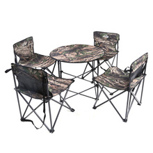2017 Outdoor Camping Fishing Table One Table Four Chairs Camouflage Waterproof Cloth Folding Camping Fishing Table Travel Kits