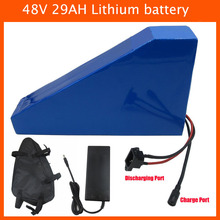 No tax 48V Electric Bike Battery 48V 29AH triangle battery Use NCR18650PF cell with Free bag 50A BMS 54.6V 2A charger