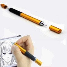 PCTC High Precision Capacitive Stylus Ballpoint Pen For Smart Phone Tablet PC Ipad (Yellow)(China)