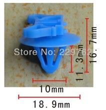 Free Shipping 100PCS Auto Fastener Retainer Clip For RENAULT Automotive Plastic Clips Plastic Fastener For Car Body
