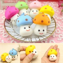 10 Pcs Universal Mushroom Mobile Phone Strap Soft Little Cute Toy Scented Chain Phone Bag Pendant Decor Gift Randomly