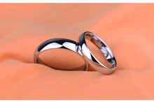 Wholesale New Fashion Jewelry Classic Design Tungsten Steel Lovers Silver Rings Classic Personality Ring Free Engraving