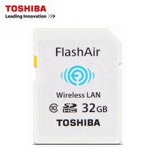 TOSHIBA Wifi SD Card FlashAir W03 Class10 32GB SDHC Wireless 16GB WIFI Memory Card For Canon Nikon CASIO Digital Camera Original