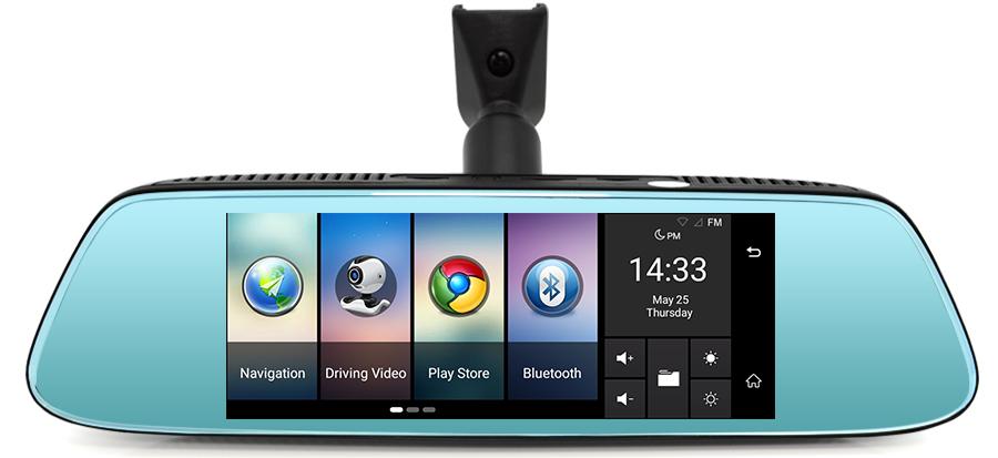 "Junsun 8"" 4G Special Mirror Car DVR Camera Android 5.1 with GPS DVRs Automobile Video Recorder Rearview Mirror Camera Dash Cam 13"