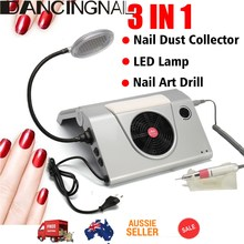 220V 3IN1 Nail Dust Suction Collector Cleanser 25000 RPM Nail Drill Vacuum Machine With LED Light Salon Manicure Tool 2017(China)